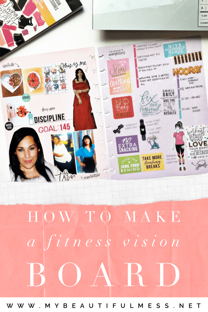 how to make a fitness vision board