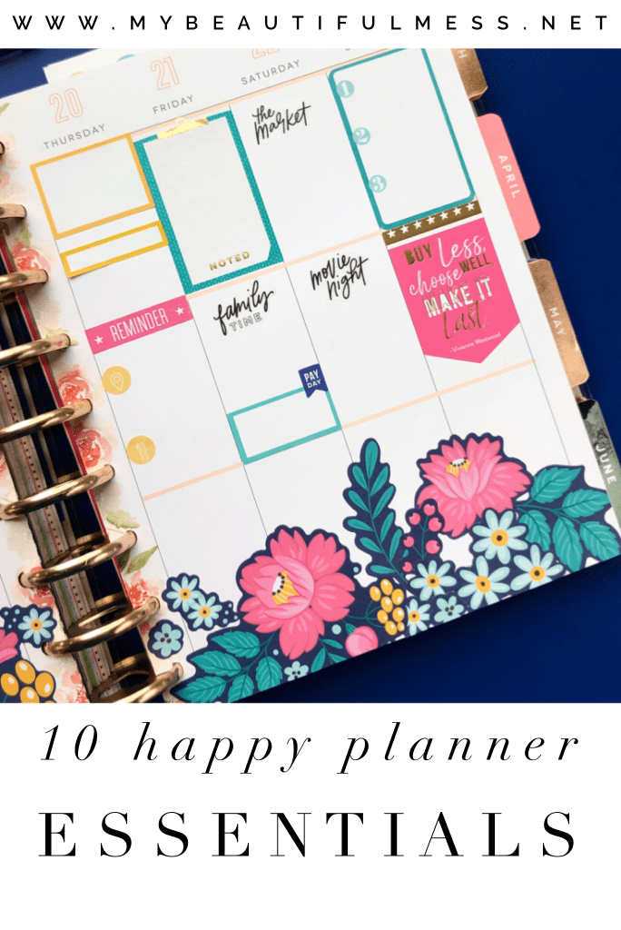 10 happy planner essentials