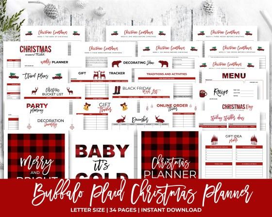 Buffalo Plaid Christmas Planner