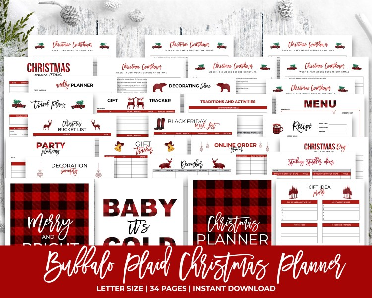 Buffalo Plaid Christmas Planner