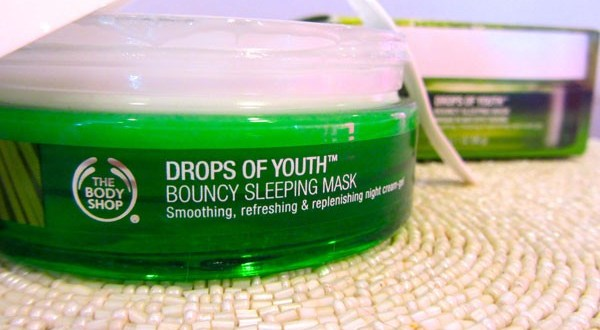 the body shop drops of youth bouncy sleeping mask my beauty bunny