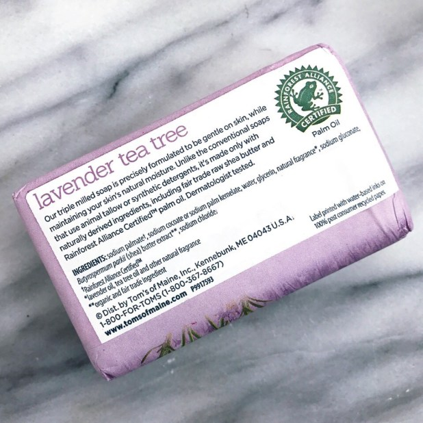 Toms of Maine Cruelty Free Lavender Tea Tree Soap