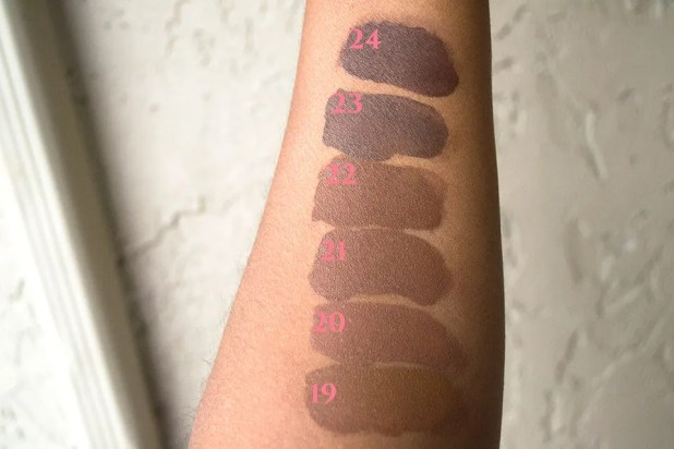 NYX Total Control Swatches Shades 19-24