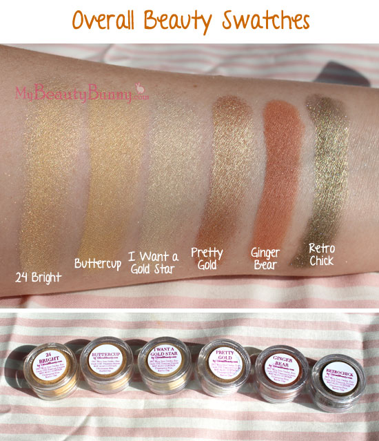 Overall Beauty makeup swatches