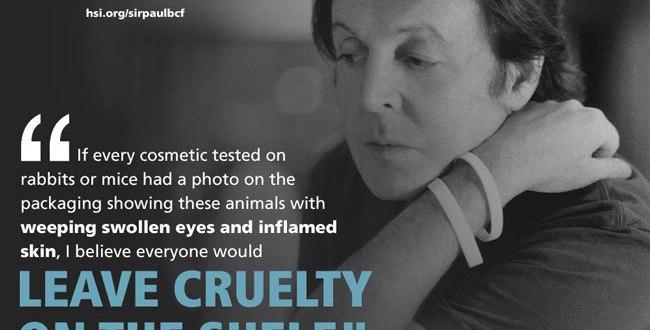Paul McCartney Against Animal Testing