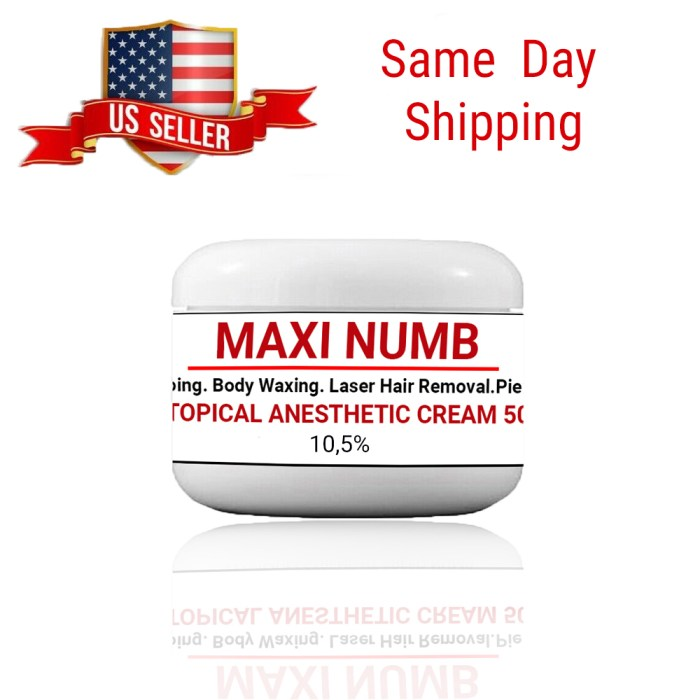 best Topical Anesthetic Numbing Cream 10,5 %