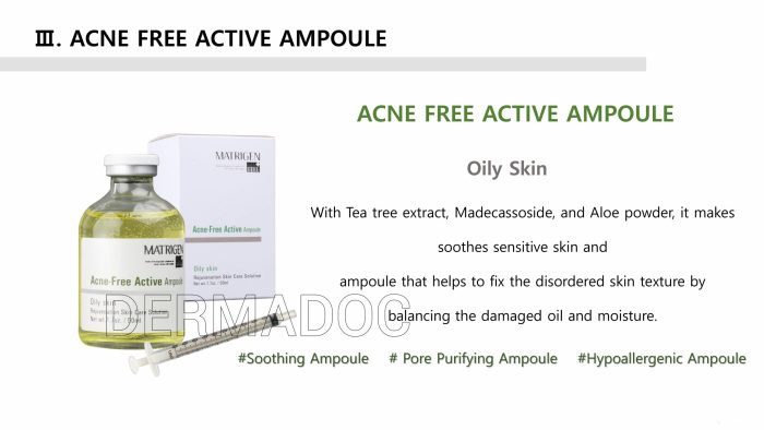 USA best Acne free active ampoule for oily skin serum
