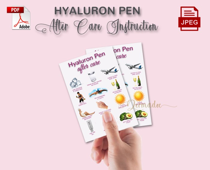Hyaluron Pen Aftercare best USA form card