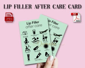 Lip Augmentation Aftercare form card.PDF for download