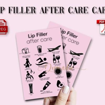 USA, UK, Australia Hyaluron Pen Aftercare form card, PDF downloadable.