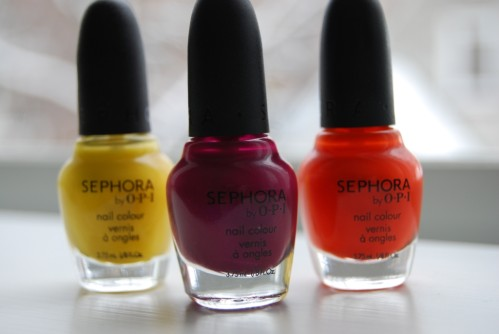 3 teintes de la collection Sephora by OPI