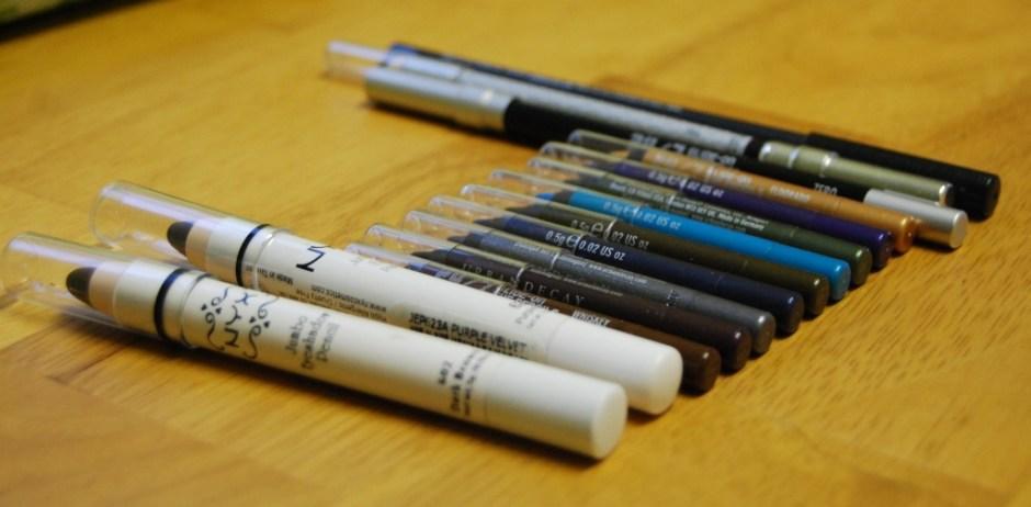 mes crayons pour les yeux