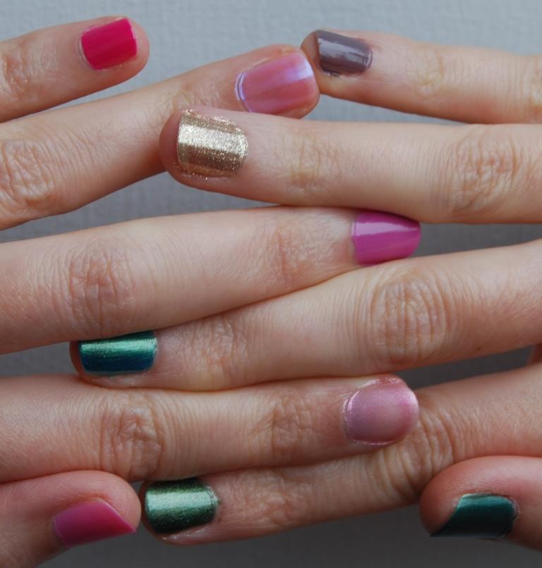 Défi du lundi relevé! my rainbow nails
