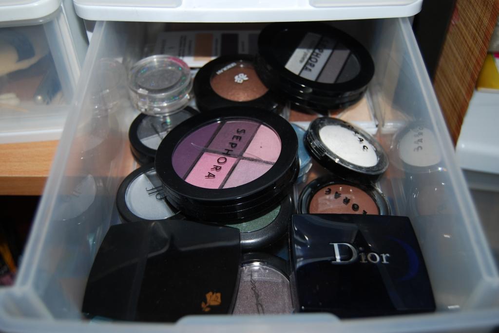 Défi du lundi relevé! mon rangement makeup