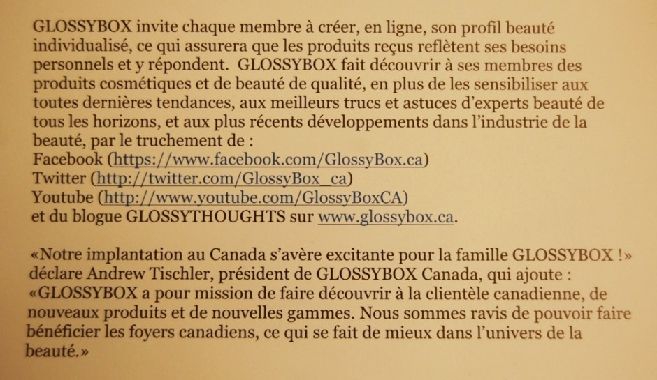 Glossybox 13
