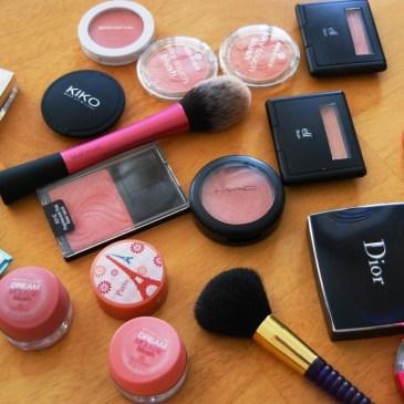 Le défi du lundi: mes blushes préférés
