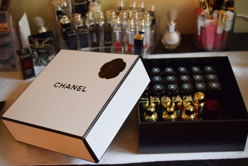 20140707 rangement vernis 3 boite chanel my beauty qu bec. Black Bedroom Furniture Sets. Home Design Ideas