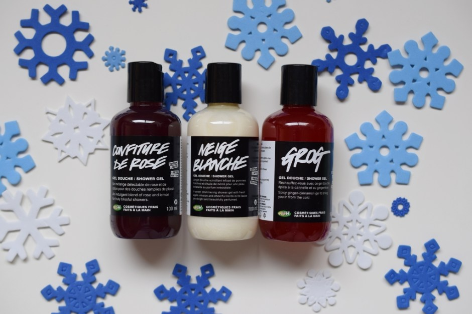 Lush shower gels Holiday 2014