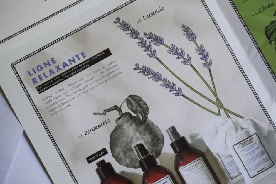 L Occitane aromachologie ligne relaxante