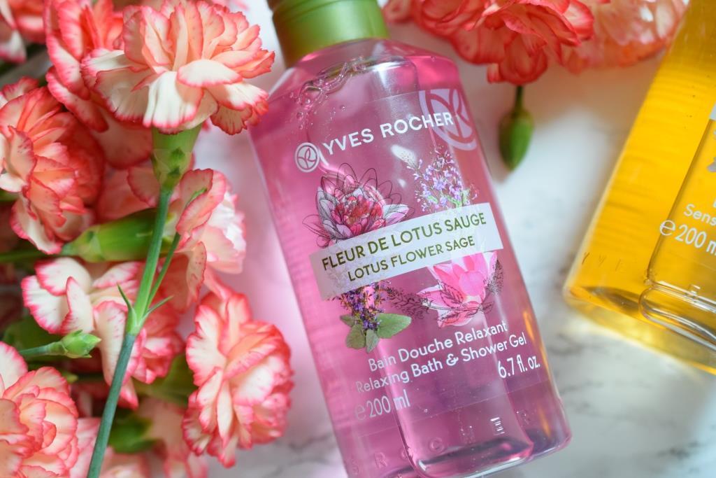 Nouveaux gels douche Yves Rocher Plaisirs Nature Fleur de Lotus Sauge