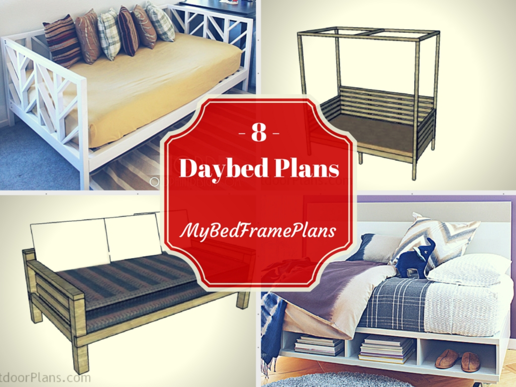 8 Free Daybed Plans Free Bed