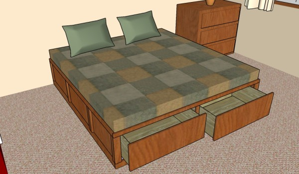 Bed Frames With Storage Plans 7 free storage bed frame plans | free bed frame plans - how to