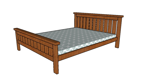 2x4 Queen size bed plans
