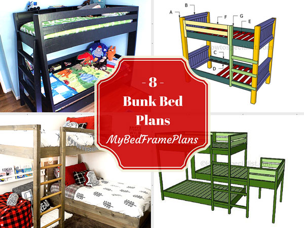 8 Free Bunk Bed Plans Free Bed Frame Plans How To Build A Bed Frame