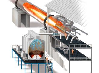 Ilustração de um Sistema de Plasma Gaseificação
