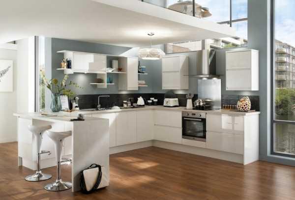 Фото маленькие угловые кухни с барной стойкой – Интерьер ...