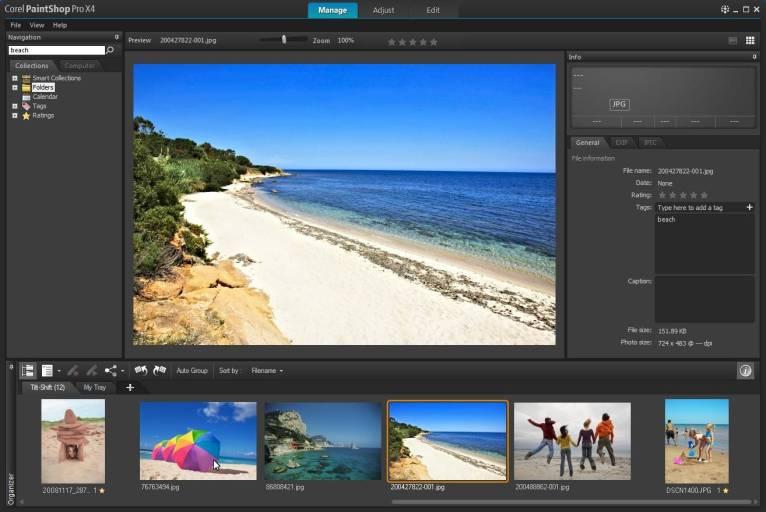 Corel-PaintShop-Pro-X4-Manage-Workspace