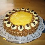 German Cake Butter Cream with Egg Cognac