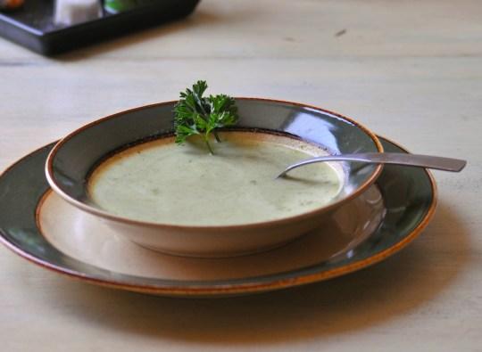 cress zucchini soup