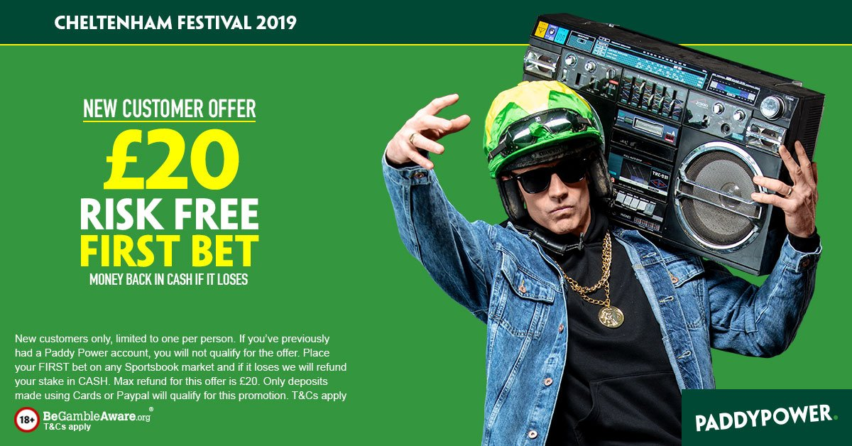 Paddy power 20 free betting full page spread definition betting