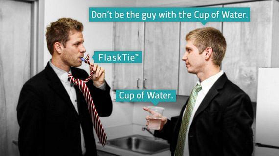 Flask Necktie