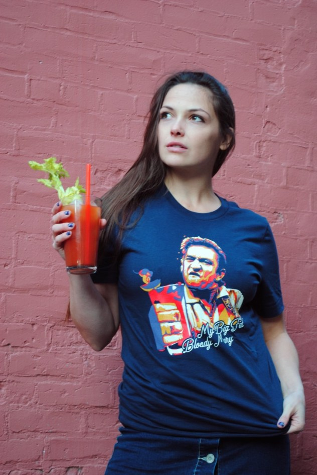 Johnny Cash Bloody Mary T-Shirt
