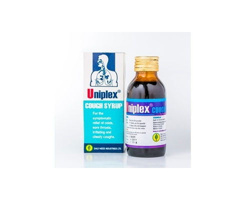 Uniplex cough syrup It used for ,metabolic alkalosis, Patients with  hypochloremic states, Nausea, Vomiting, Motion sickness, Insect bite,  Hypersensitivity reactions, Acidity, Gastric problems, Kidney stones and  other conditions. Active Ingredients ...