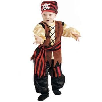 costume carnevale pirata per bambini