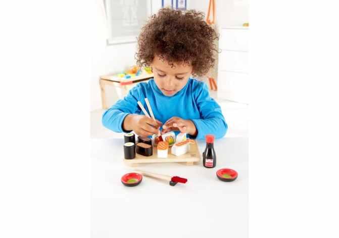 sushi giocattolo in legno