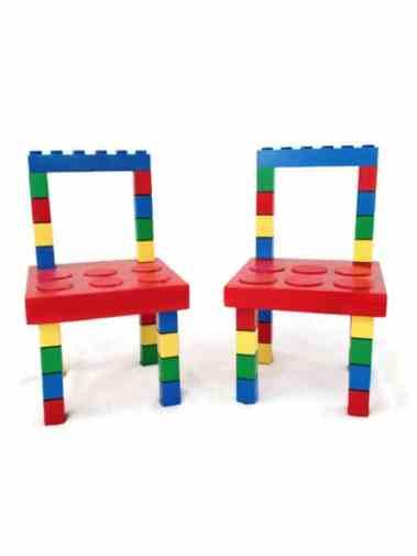 sedie in mattonelle lego