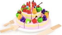 torta per compleanno giocattolo in legno