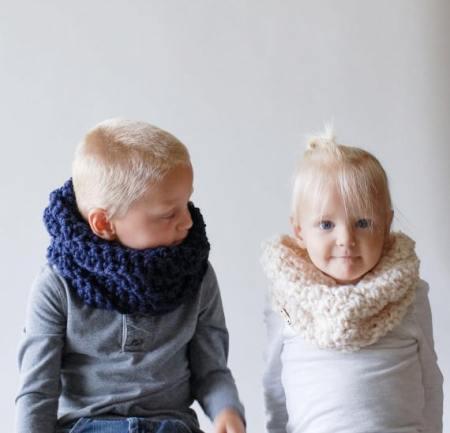 sciarpa lana bambino scaldacollo loop