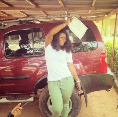 Destiny when she finished her National Youth Service(NYSC) 2015