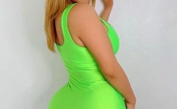 Priscilla Morales in green gown