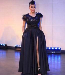 Evodia Mogase in black gown