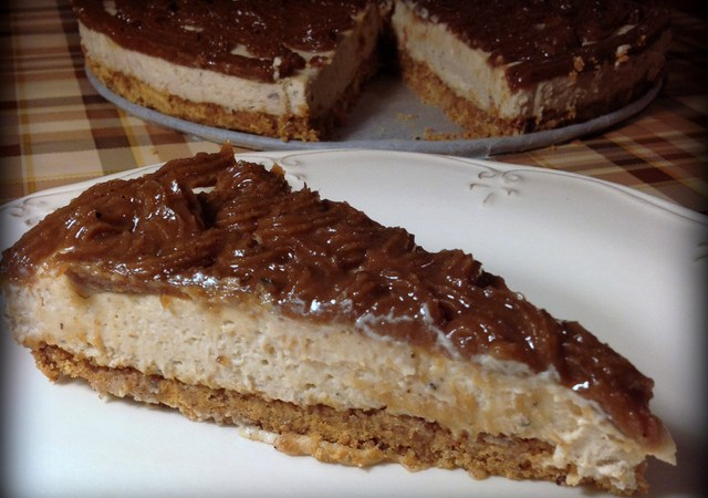 Cheesecake cu cafea si piure de castane