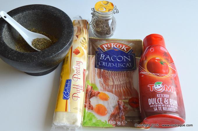 Rondele din foietaj cu bacon si ierburi italienesti