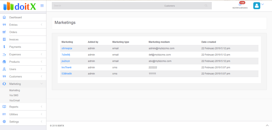 DoitX: Complete Sales CRM with Invoice, Expenses, Bulk SMS and Email Marketing - 15