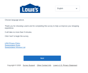 www.Lowes.com/Survey - Win $500 - Lowes CustomerSatisfaction Survey