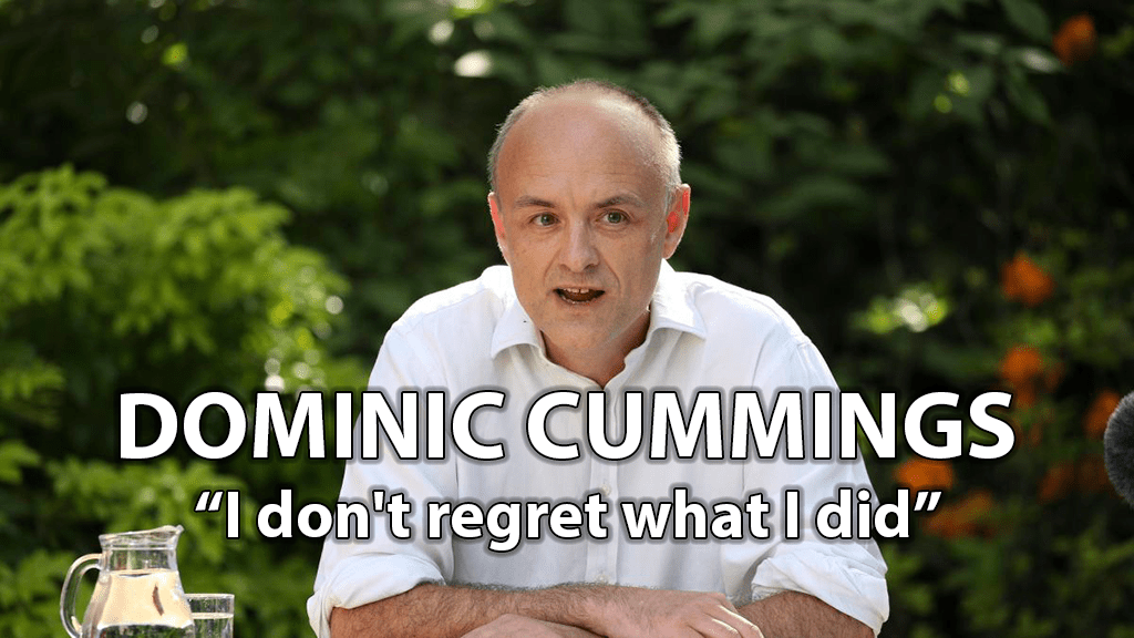 "Dominic Cummings ""I don't regret what I did"""